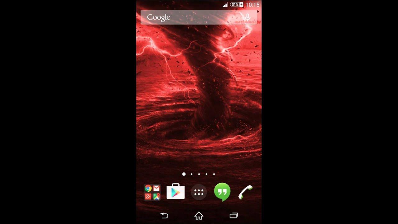 Tornado 3D RED Live Wallpaper