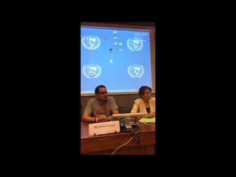 L'intervention de Trifi Bassem au palais des nations unies à Genève