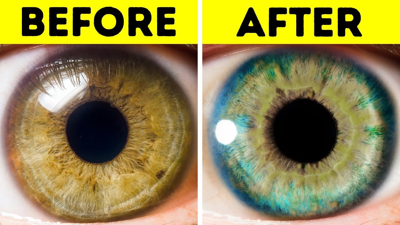 How to make eyes change color naturally
