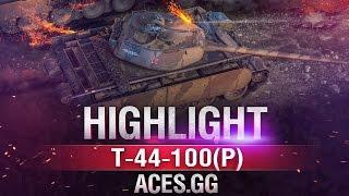 Игровой проказник.Т-44-100 (Р) в World of Tanks!