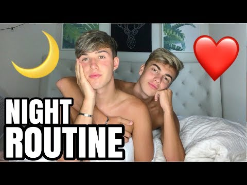 OUR NIGHT ROUTINE AS A COUPLE! WITH MY BOYFRIEND!