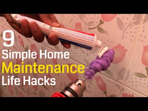 9 Simple Home Maintenance Life Hacks | 5-Minute Craft Ideas