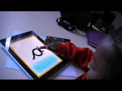 abc Joined Up Handwriting iPad App for school children