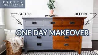 Furniture Painting for Begiฑners   One Step Paint Dresser Makeover