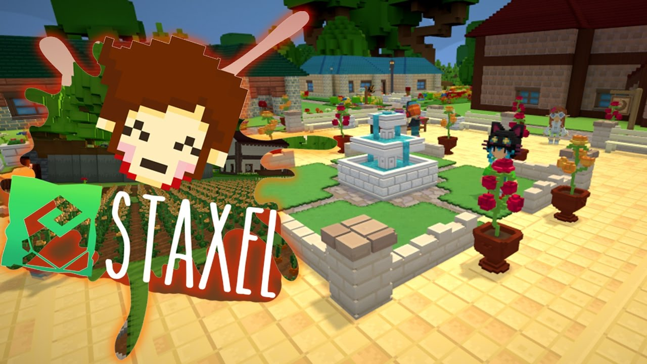 Staxel Multiplayer Farming Game First 10 Minutes Of Gameplay Youtube
