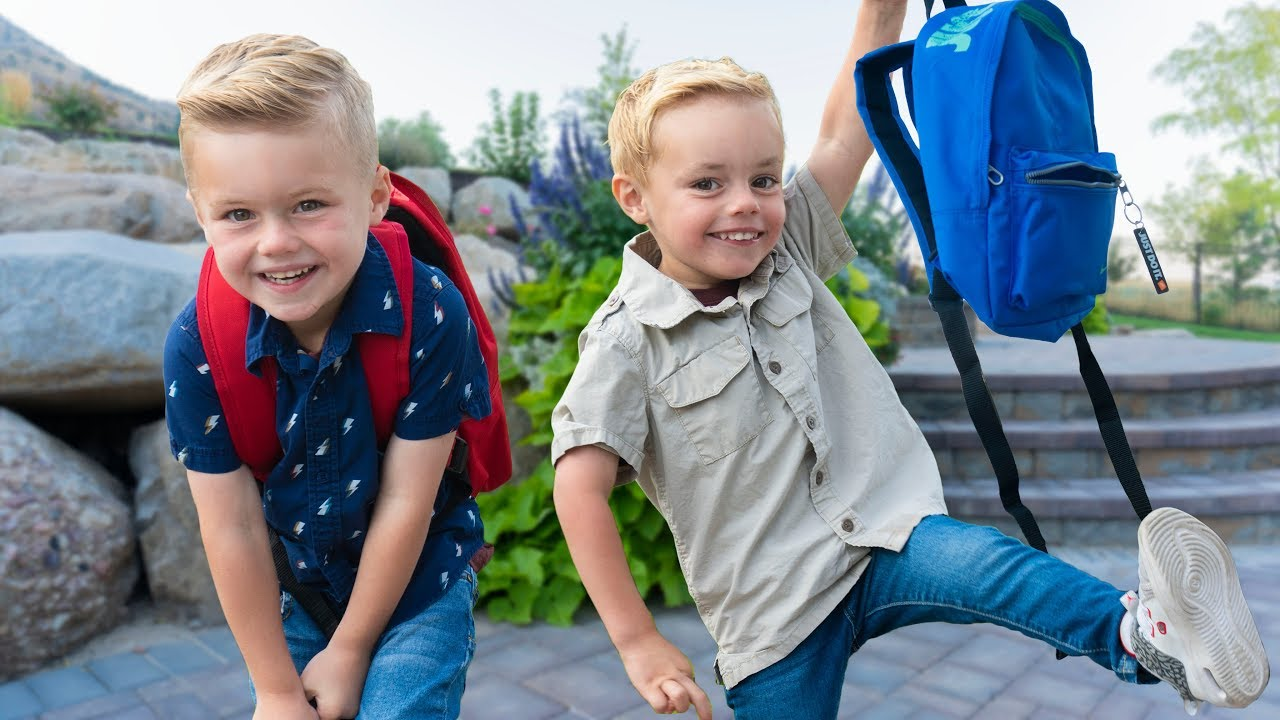 First Day Of SCHOOL! Calvin Goes To PreSchool!