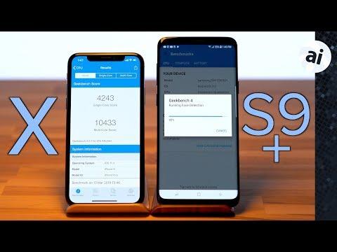 iPhone X vs Samsung Galaxy S9 Plus - Benchmark Comparison