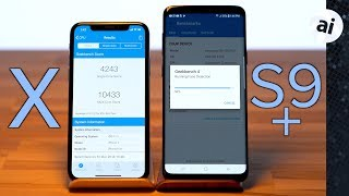 iPhone X vs Samsung Galaxy S9 Plus - Benchmark Comparison