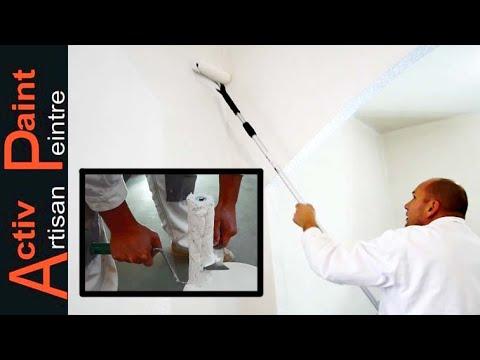 peindre au rouleaux un mur et un plafond youtube. Black Bedroom Furniture Sets. Home Design Ideas