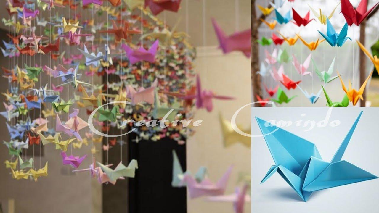 DIY Cara Membuat Hiasan Burung Bangau Dari Origami-hanging ...