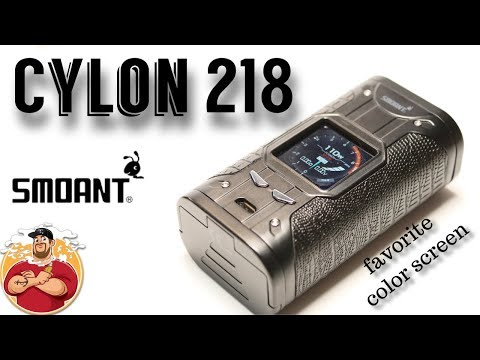 Cylon 218 TC Box Mod by Smoant Review | My Favorite Color Screen!