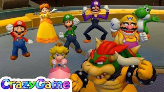 Super Mario Party Free Play - Peach v Bowser v Diddy Kong v Jr. Bowser   CRAZYGAMINGHUB