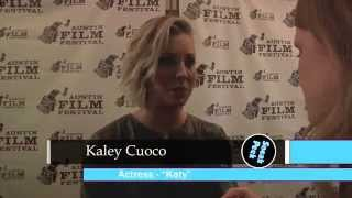 Burning Bodhi Red Carpet Interview - Kaley Cuoco and Cody Horn