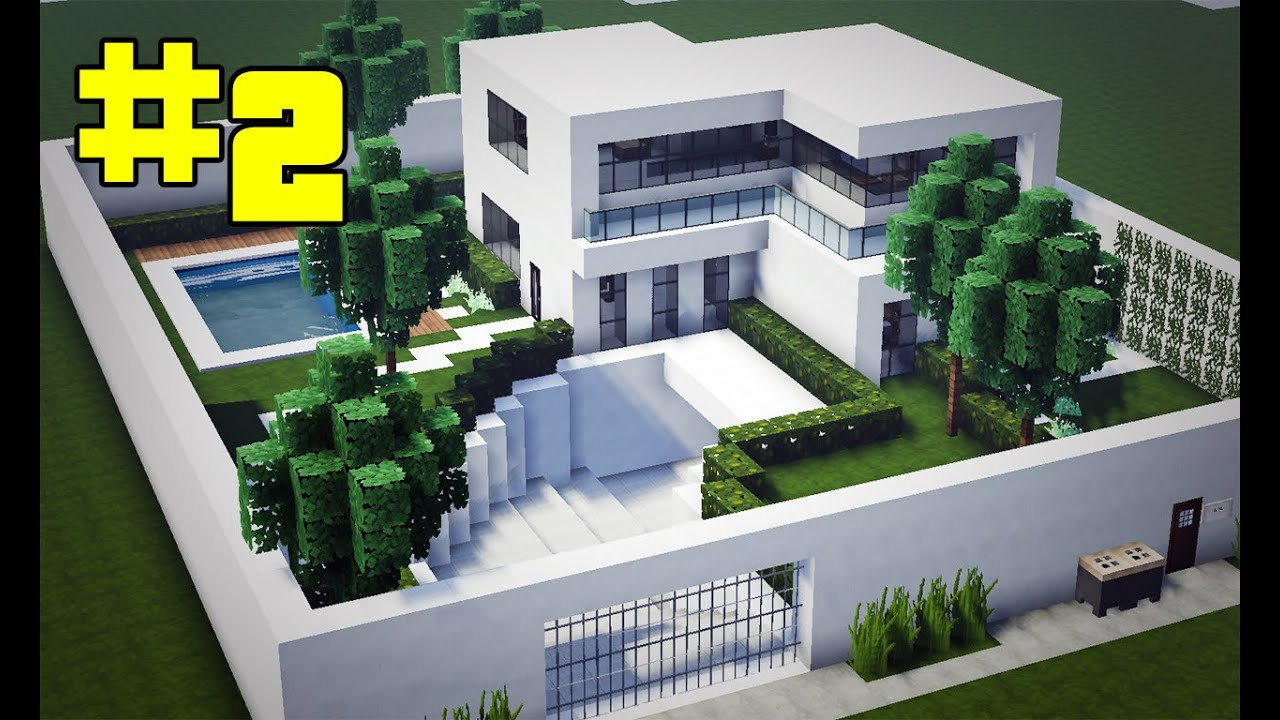 Minecraft tutorial casa moderna completa mob lia youtube for Casa moderna lecheria