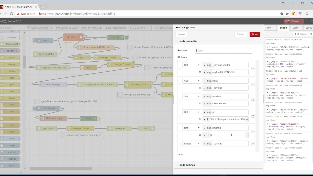 Update: Node-Red: IPControl IP Lookup API (now including Mac Vendor Lookup)