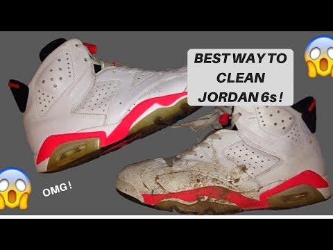HOW TO CLEAN JORDAN 6 RETROS ( Jordan 6 Infrared restoration )