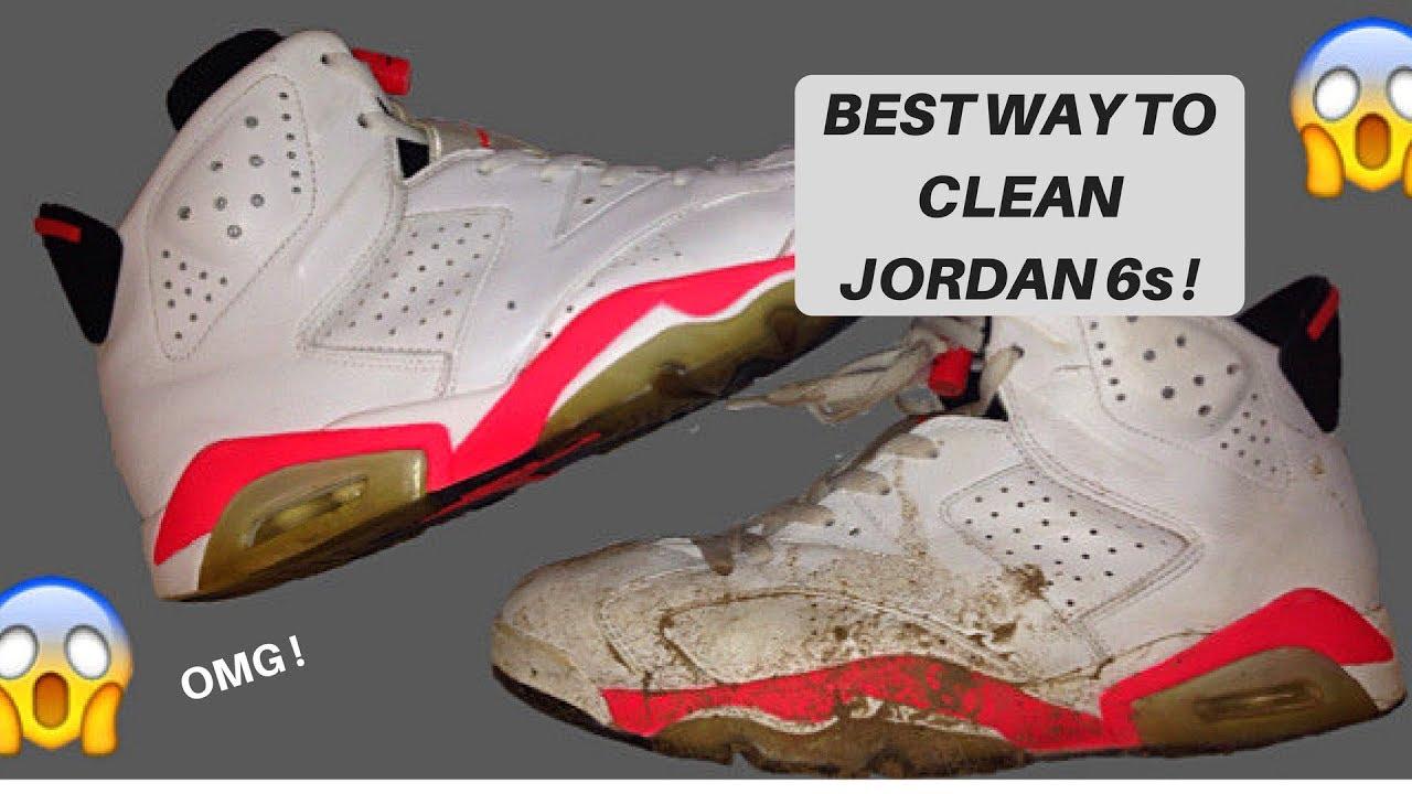 34407f96040 HOW TO CLEAN JORDAN 6 RETROS ( Jordan 6 Infrared restoration ) - YouTube