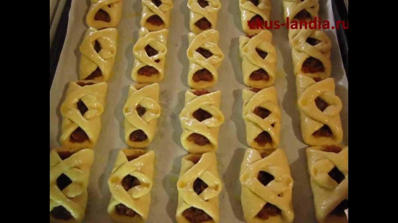 формы булочек из дрожжевого теста с начинкой с фото