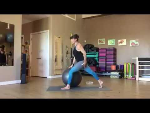Stability ball Mat Pilates Flow Intermediate to Advanced with Master Teacher Trainer Fiona Hermanutz