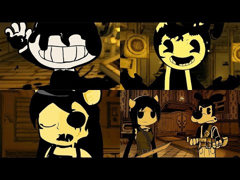 Stickman in Bendy and the Ink Machine Chapter 1-4 Animations
