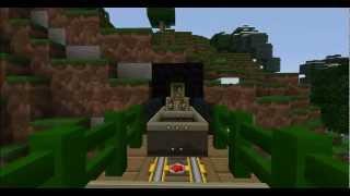 Runaway Minecraft Train - Rock