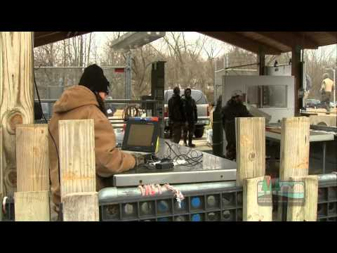 Collecting fish eggs at DNR's Root River facility
