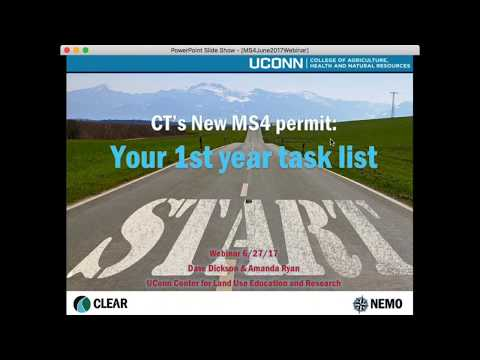 CT MS4 General Permit: Your First Year Task List