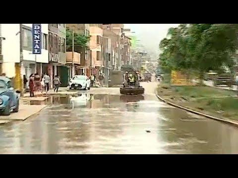Nuevo colapso de desagüe agrava situación en San Juan de Lurigancho | 90 Central