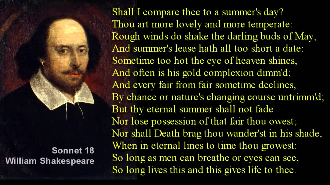sonnet 18 compared to sonnet 30 Sonnet 30 / sonnet 75 321 one day i wrote her name upon the strand, but came the waves and washéd it away: again i wrote it with a second hand, but came the tide, and made my pains his prey.