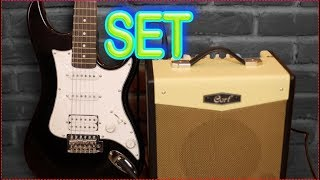 Başlangıç Elektro Gitar Seti - Elektro Gitar ve Amfi tanıtımı Washburn S1HB Cort CM15R