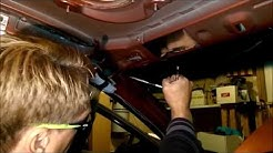Windshield removal using Fishing Line