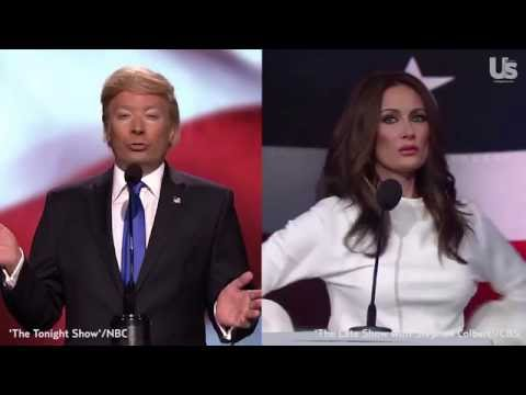 Late-Night TV Mocks Donald and Melania Trump