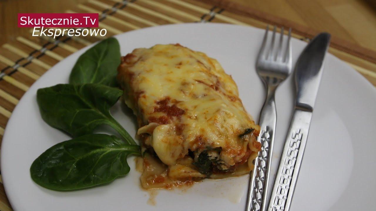 Cannelloni z indykiem, szpinakiem i suszonymi pomidorami :: Ekspresowo|SkutecznieTv