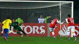Penales Brazil vs Paraguay - Copa América 2015 HD