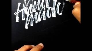 Handmadefont Logo by @sachinspiration