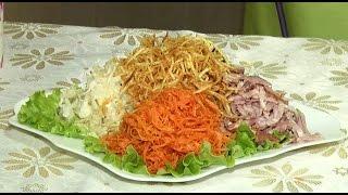 Салат «Дагестанский»(Повар Анастасия Новосёлова предлагает в программе приготовить лёгкий и вкусный салат «Дагестанский» из..., 2016-10-21T08:03:01.000Z)