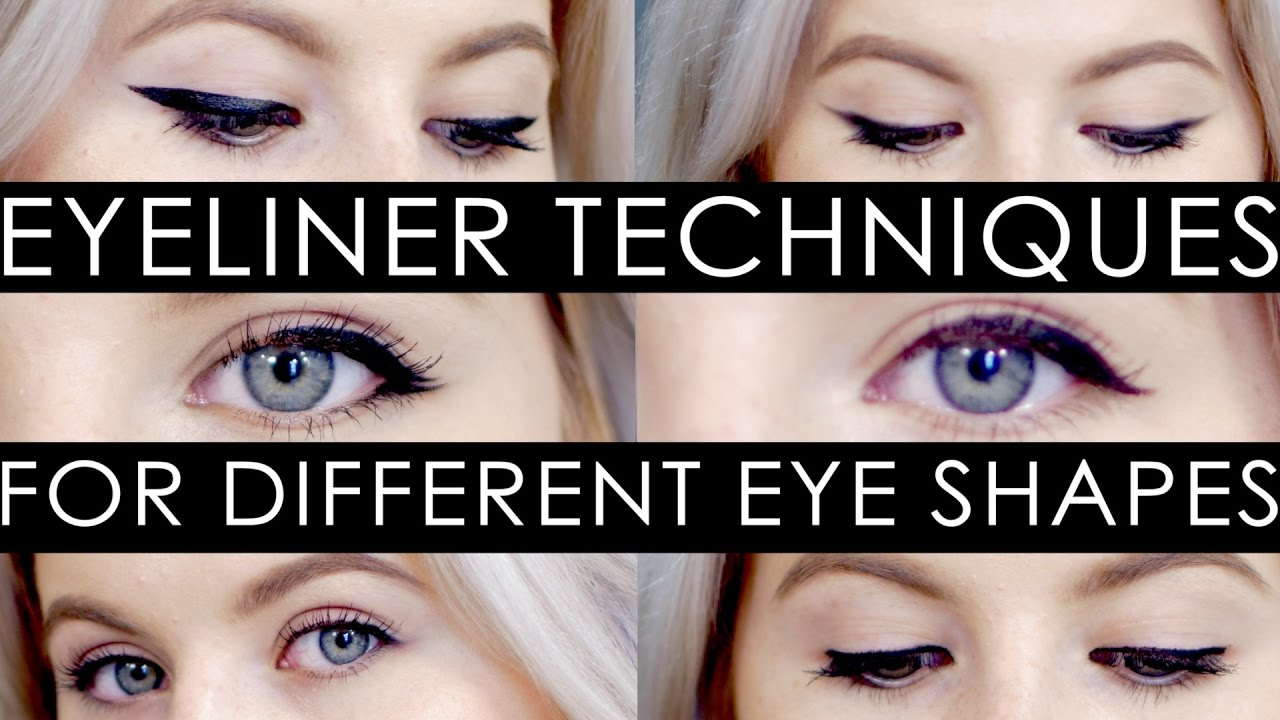 How To Eyeliner Techniques For Different Eye Shapes Milabu Youtube