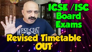 Revised Timetable : ICSE Board Exams from 29 November, ISC from 22 November in Offline Mode