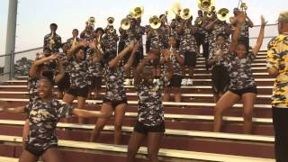 middle finger u the west charlotte marching lions august 21 2015