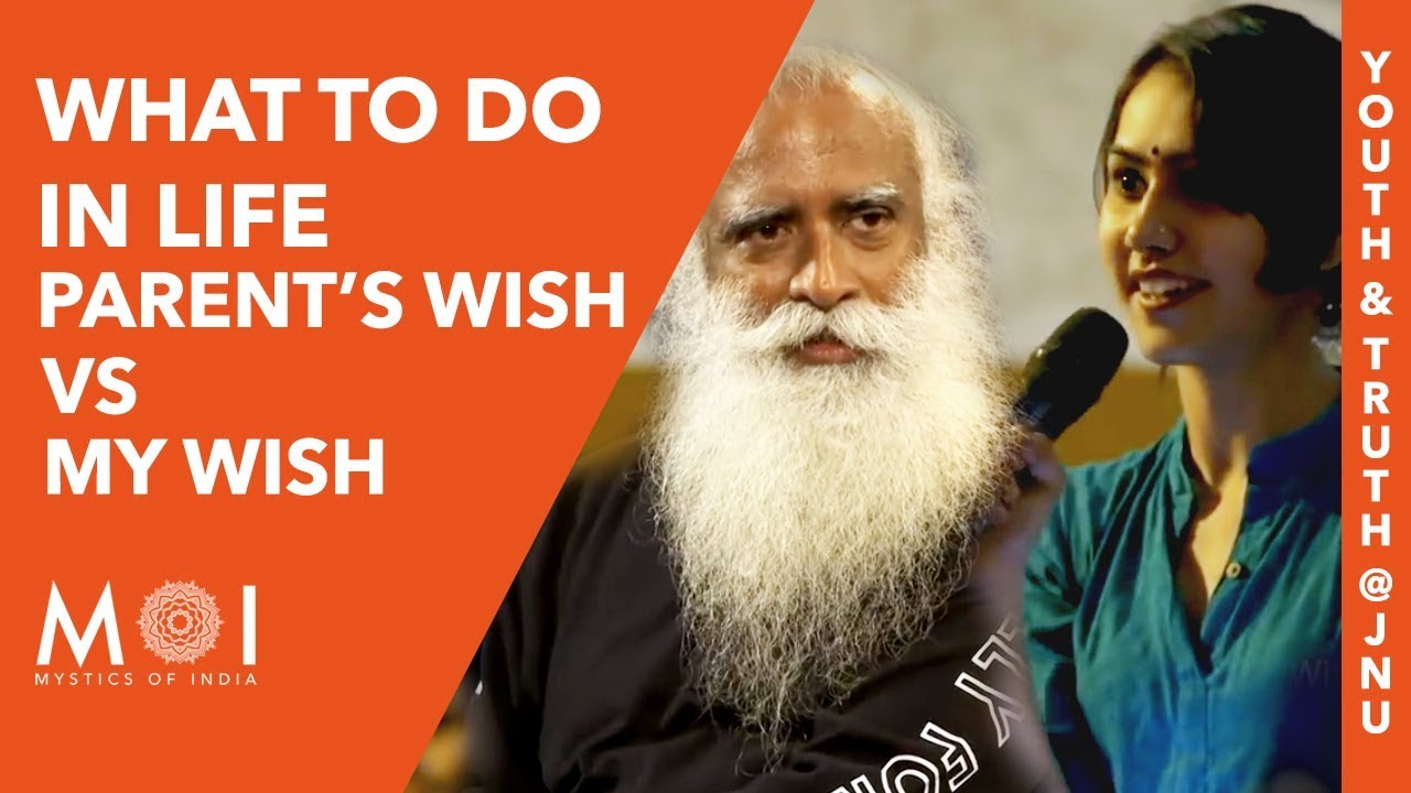How to Make this Tough Decision:  Parent's Wish or your Wish | MOI | By Sadhguru