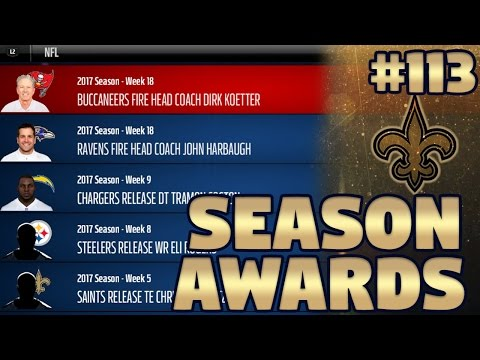 Season Awards, Stats, & Playoff Preview!!   Madden NFL 17 New Orleans Saints Franchise Ep. 113