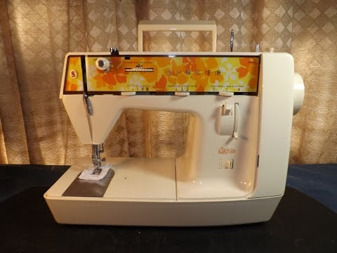 SINGER MODEL 353 GENIE TOUR WITH BOBBIN WINDING, NEEDLE THREADING & SEWING DEMO