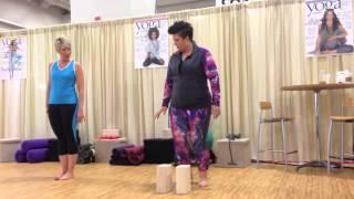 Coach Tulin modified CHIYOGAFLOW w/ Angela Martindale @ Yoga Journal Wellness Studio