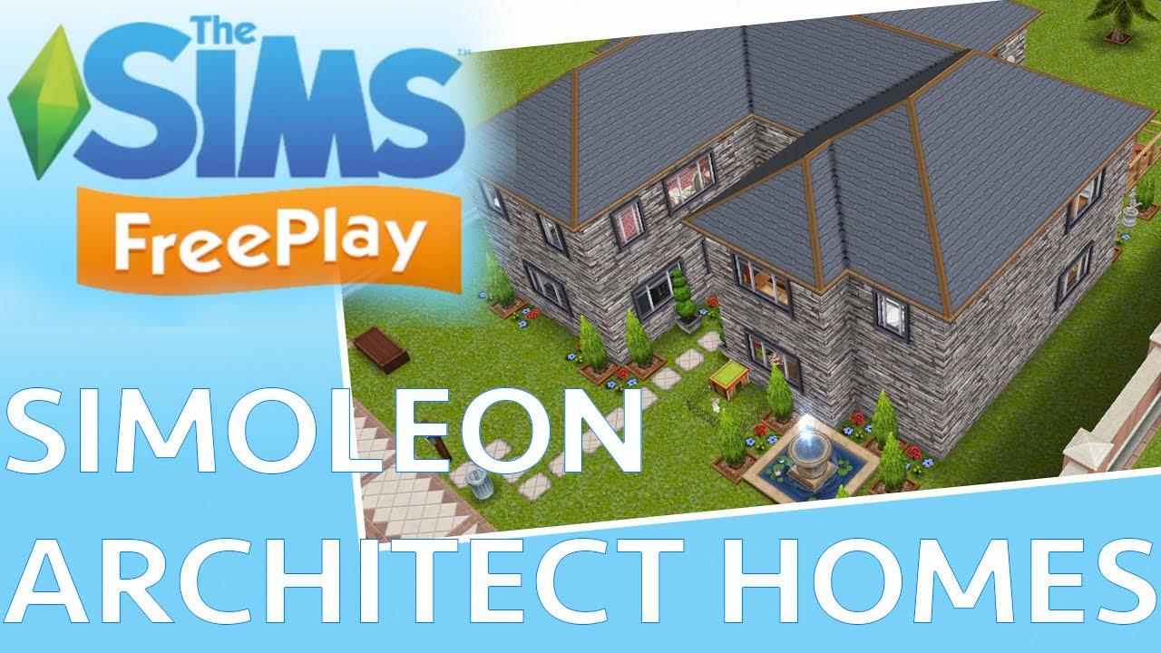 sims freeplay architect homes tour youtube