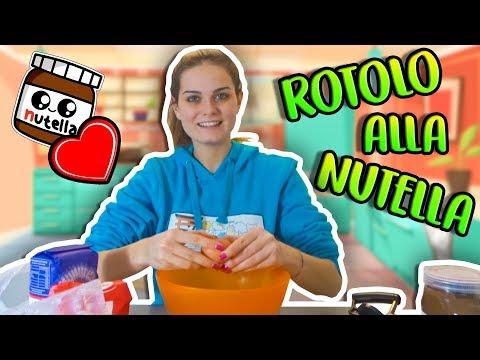Preparo il ROTOLO ALLA NUTELLA!!!