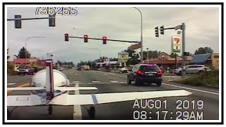 Plane Makes Emergency Landing On Active Roadway | Dash Cam | United States | 20190801