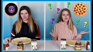 Twin Telepathy Pizza Challenge    Taylor and Vanessa