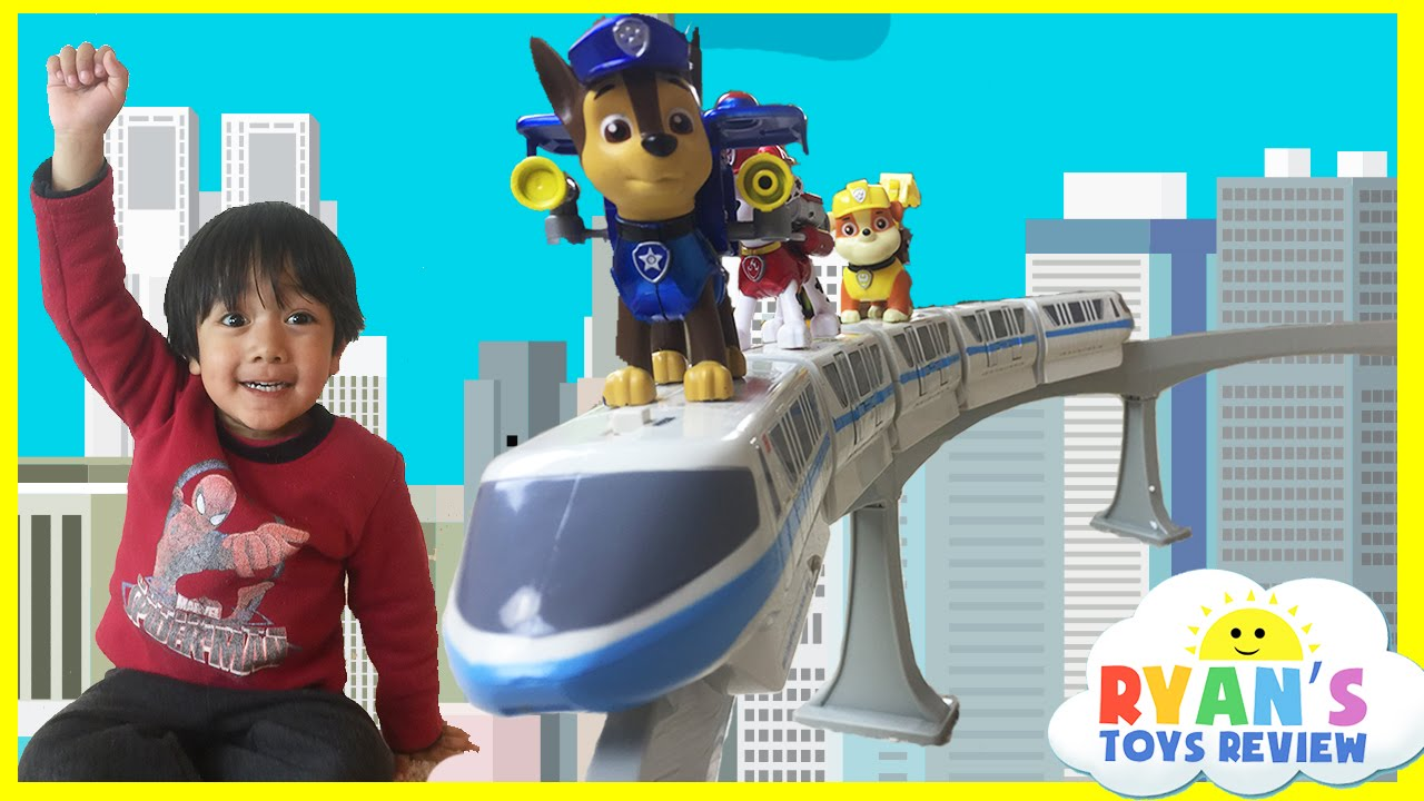 Disney Toys Monorail Train Playset with Paw Patrol and