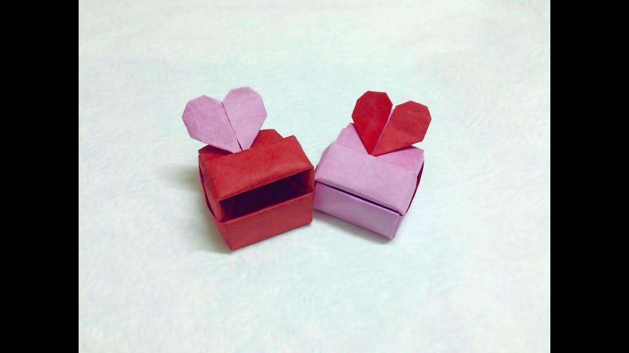 tutorial origami love box heart box paperph2 youtube