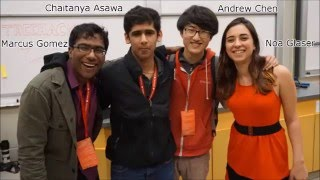 Noa Glaser, Marcus Gomez, Andrew Chen, Chaitanya Asawa. Top prize-Stanford TreeHacks